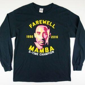 RARE Kobe Bryant Farewell Mamba Long Sleeve Shirt